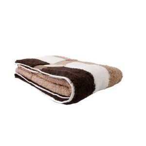 SERVIETTES DE BAIN Gözze, serviette de toilette à rayures marron, bl
