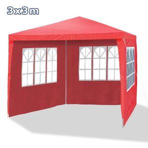 TONNELLE - BARNUM Barnum, tonnelle de jardin 3 x 3 m, rouge framb…