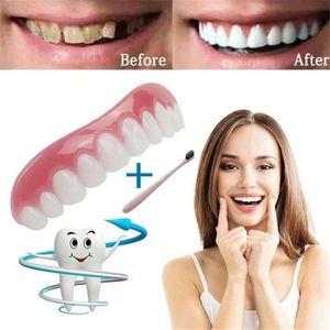 4x Sur Le Dessus Supérieur Fausses Dents Facettes Dentaires Dentiers Couvre FR