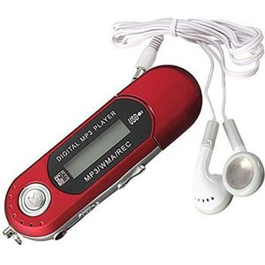 LECTEUR MP3 8G Cle USB Lecteur Baladeur MP3 Player FM rouge