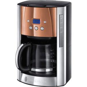MOULIN À CAFÉ Machine à Café, Cafetière Luna 1.8L Inox, 12 Tasse
