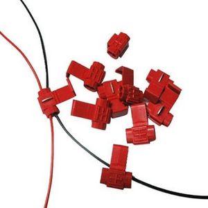 BAGUE D'ADAPTATION Lot de 100 clips Rouge attache serre câbles diamèt