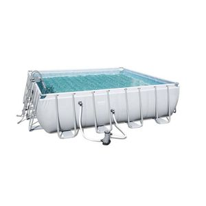 PISCINE Bestway - Kit Piscine tubulaire carrée 488x488cm H