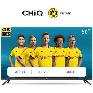 Téléviseur LED CHiQ U50H7L UHD 4K Smart TV, 50 Pouces(126cm), HDR