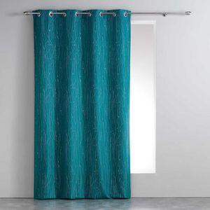 RIDEAU Rideau a oeillets 140 x 260 cm polyester applique
