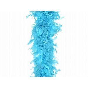 Deluxe Plume Boa Bleu Royal 180 cm 80 g accessoire robe fantaisie