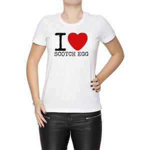 T-SHIRT Tee-shirt - I Love Scotch Egg Femme Cou D'équipage