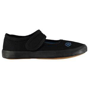 Slazenger Hommes Kung Fu Chaussures De Toile /à Enfiler Noir 43
