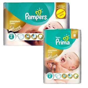 COUCHE 114 Couches Pampers new baby - premium protection