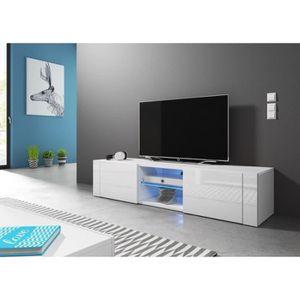 MEUBLE TV Meuble TV design PARIS-HIT 140 cm, 2 portes et 2 n