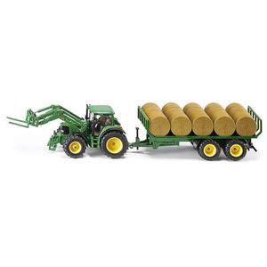 VOITURE - CAMION SIKU Tracteur John Deere Avec Remorque À Balles Ro
