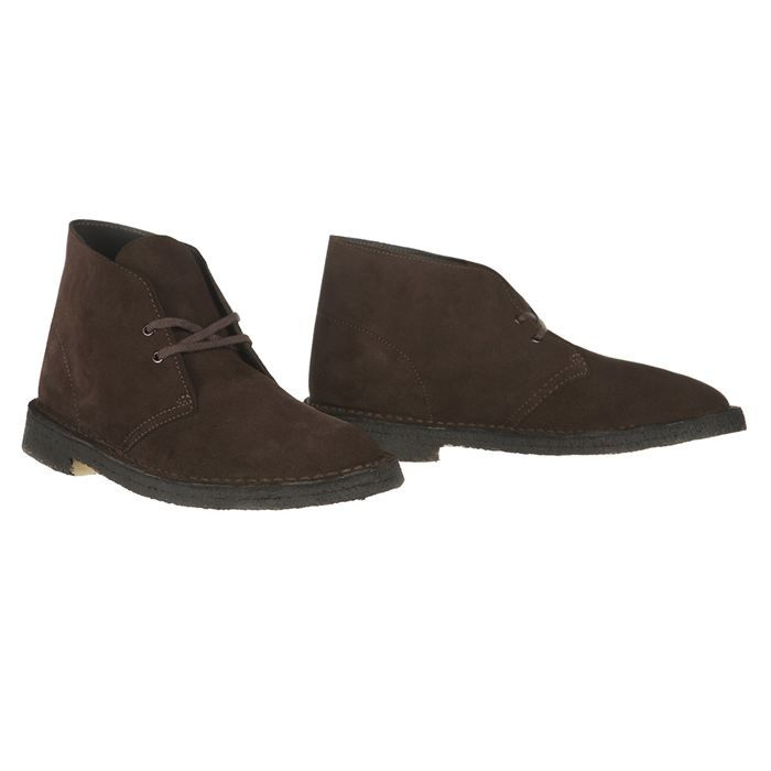 clarks originals bottines cuir desert boot homme homme brun achat vente clarks originals. Black Bedroom Furniture Sets. Home Design Ideas