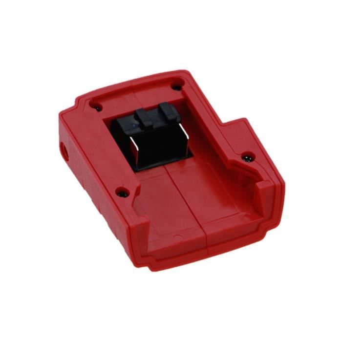 1 adaptateur de chargeur de batterie Pc Ports USB en plastique ABS Durable convertisseur accessoires pour CHARGEUR DE BATTERIE