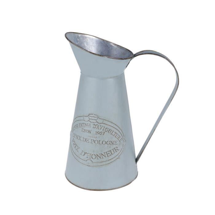 1 Pc Pichet En Métal De Fer Style Rustique Chic Shabby Portable Vase À Fleurs Pour La Décoration Mariage Maison VASE - SOLIFLORE
