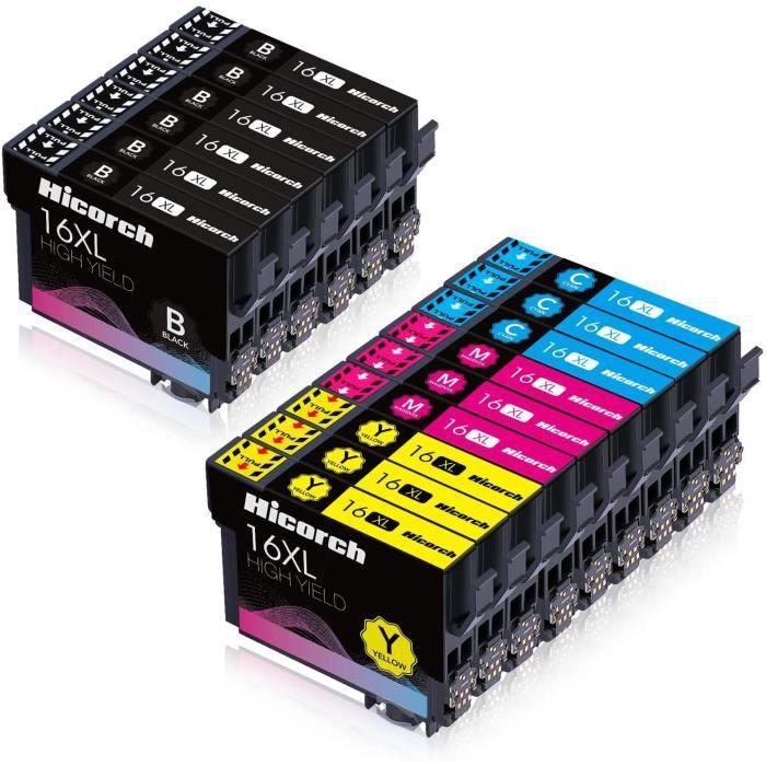 Compatible epson multipack 16xl Grande Capacità Cartouches d encre Compatible avec Epson Workforce WF-2540WF Imprimante