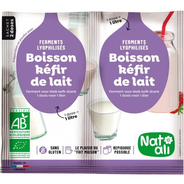 Ferment pour boisson kéfir de lait 2x6gr