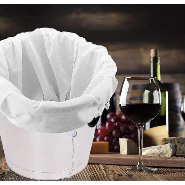 Sacs de brassage en maille fine blanche avec cordon de serrage réutilisable pour tous les grains -120 mailles