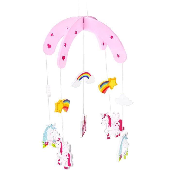 Mobile pour enfant de Mousehouse Gifts - thème licorne - chambre-salle de jeux