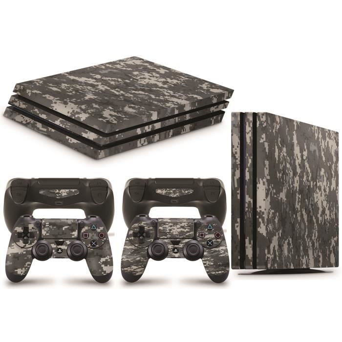 GNG PS4 PRO Console DIGITAL CAMO Skin Decal Vinal Sticker + 2 Controller Skins Set