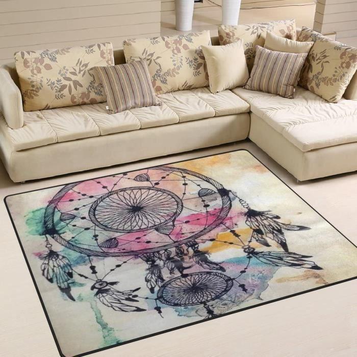 JSTEL INGBAGS Tapis moderne super doux et moderne avec attrape-rêves pour le salon, la chambre à coucher pour les jeux d'enfants576