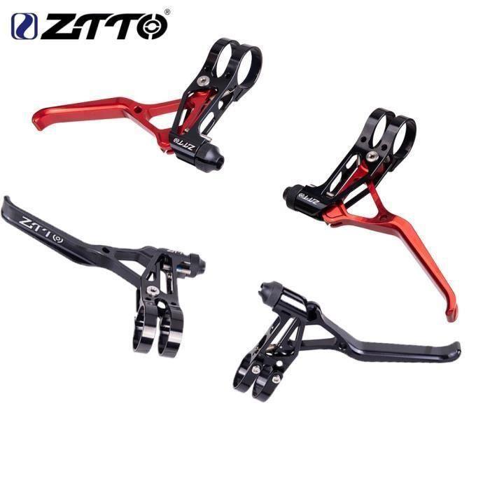 Pièce Détachée,ZTTO 1 paire freins de vélo en aluminium V leviers de frein pinces de frein poignée vélo - Type Red-Black Lever SL
