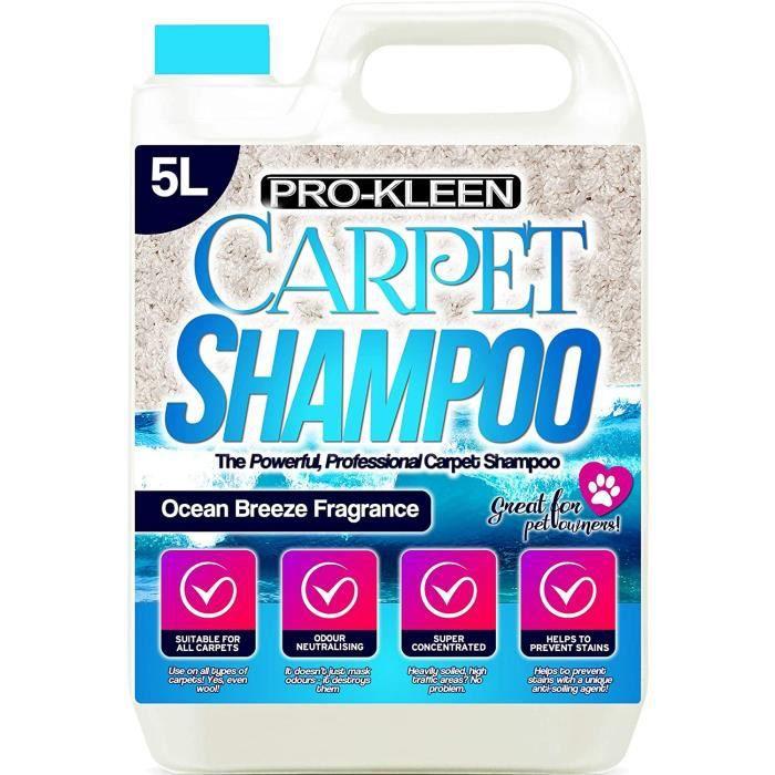 Pro-Kleen - Shampooing Professionnel concentré pour Moquette et Tapisserie - Parfum Ocean Fresh - Convient pour Toutes Les Machines