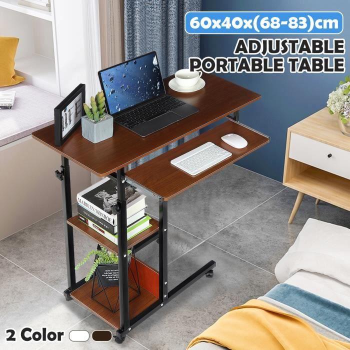 ICOCO Table ajustable avec support de souris pour ordinateur portable Le fer