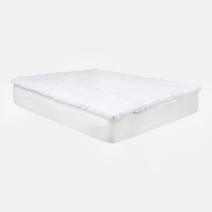 Surmatelas Confort Plus en fibres hypoallergéniques de 8 cm - 180x200 cm