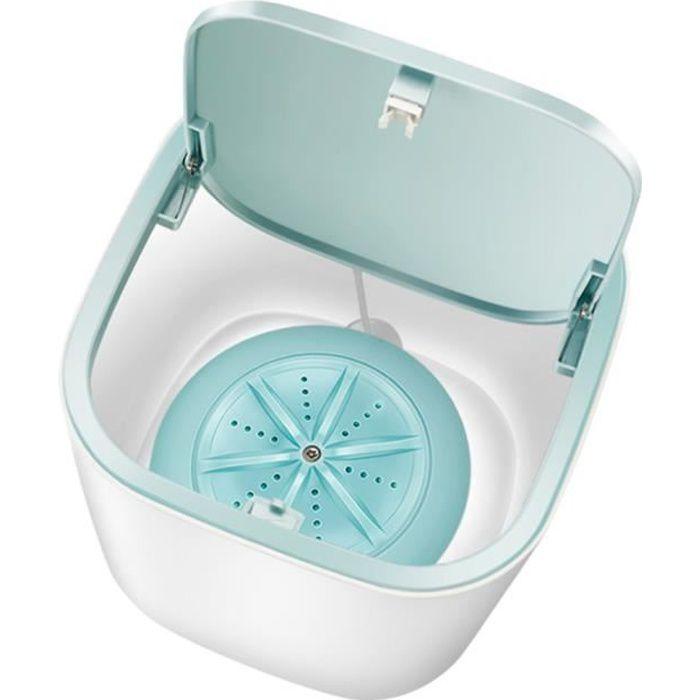Mini machine à laver automatique USB charge ménage déshydratant mini tube 3-5Kg lavage sous-vêtements soins nettoyant à sec - Bleu