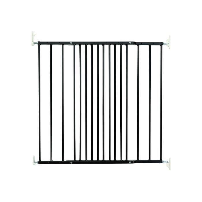 BabyDan Multidan Barrière de Porte-Escaliers Métal Noir 62,5 à 106,8 cm