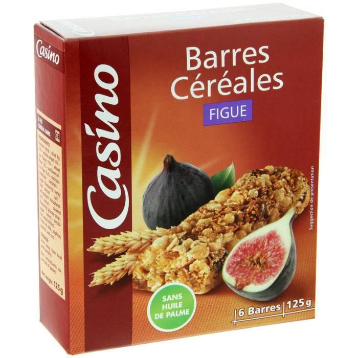 Barre Céréales figue x6 125g