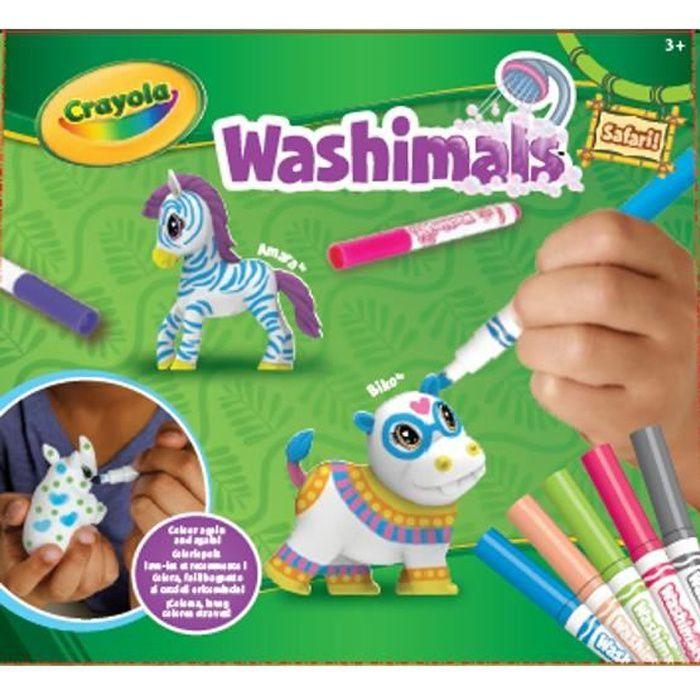 Washimals - Coloriage Kit Safari 2 - Mes Animaux à colorier - Loisirs créatifs