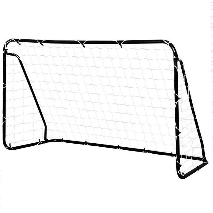 But de football - cage de foot - but d'entrainement dim. 203L x 81l x 120H cm - châssis métal époxy filet PE - piquets inclus -