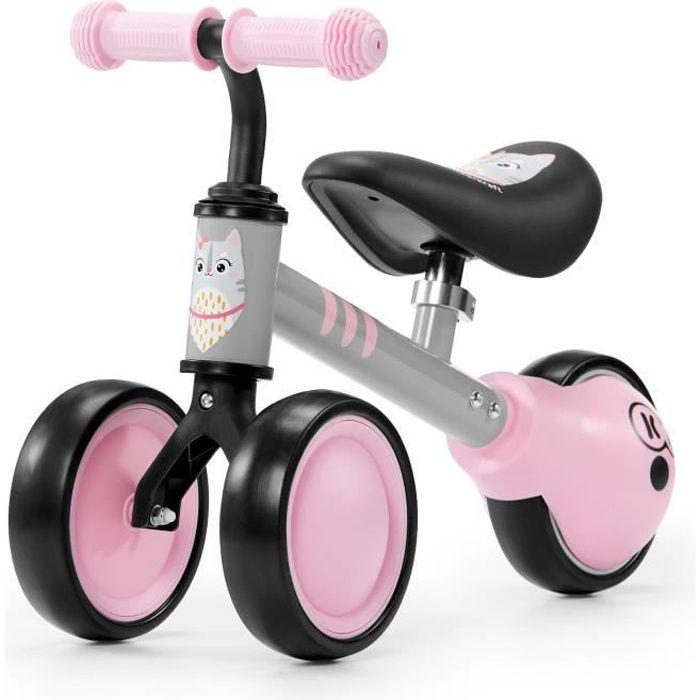 KINDERKRAFT Mini vélo Draisienne CUTIE Rose - 3 roues - Dès 1 an