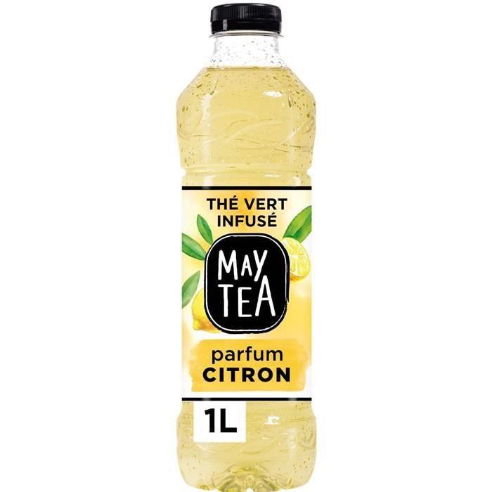 LOT DE 5 - MAY TEA : Thé vert - Thé glacé infusé au citron 1 L