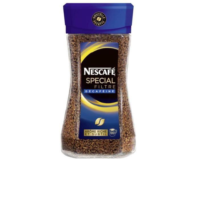 NESCAFE Café soluble - Spécial filtre - Décaféiné - 100 tasses - 200 g