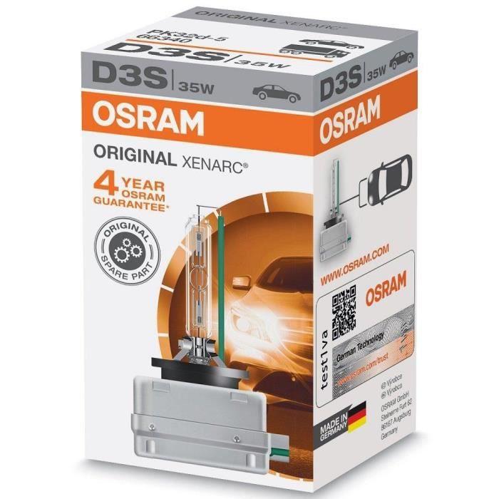 Osram XENARC ORIGINAL D3S HID, ampoule de phare au xénon, 66430, boîte en carton pliable (1 pièce)