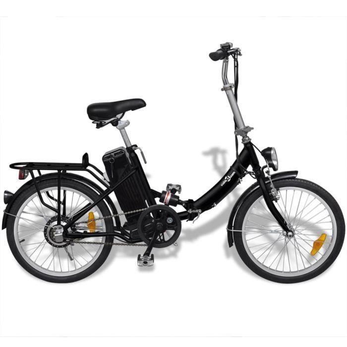Vélo électrique pliable et pile lithium-ion Alliage d'aluminiumAvec affichage LED