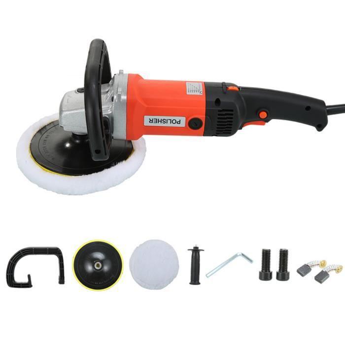 Car polissoirs Buffers machine 8 VITESSES VARIABLES 3000rpm électrique Tampon 1400W orange
