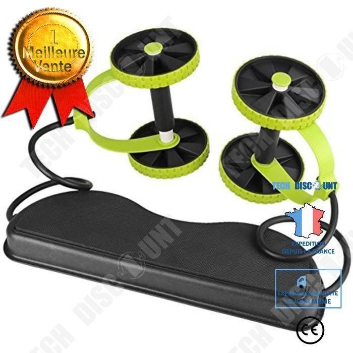 TD® Abdominale équipement rond de fitness corde d'exercice mouvement maison abdomen rouleaux de roue abdominale sport pliable