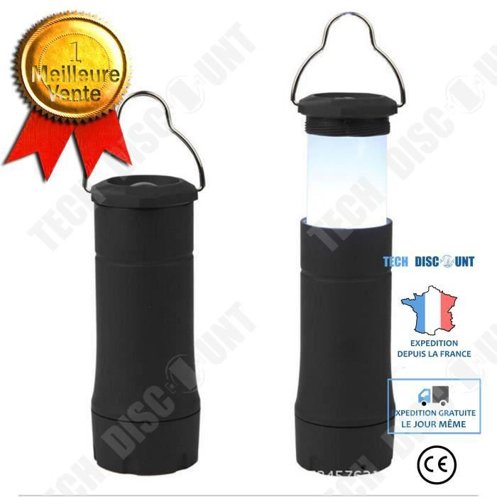TD® Portable Mini LED clignotant Ampoule Lanterne de camping Tente d'extérieur Lampe Camping randonnée luminaire nuit campement