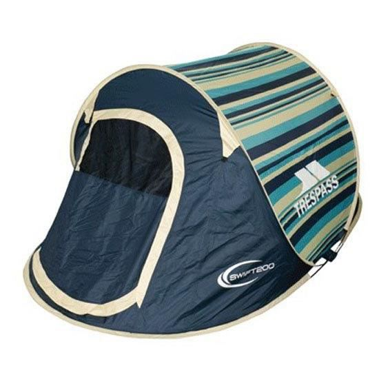 TRESPASS Tente Pop Up 2 personnes SWIFT 2 PATTERN LEMONGRASS STRIPE