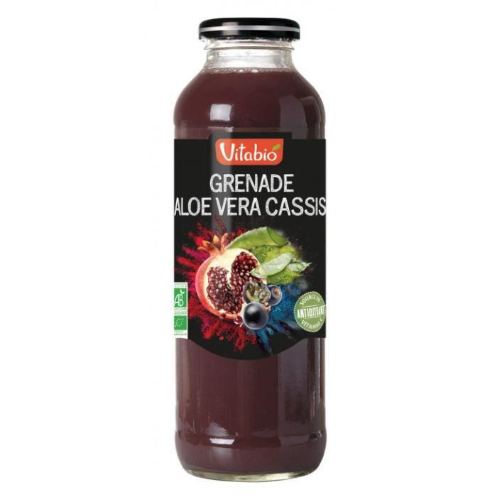 Jus cocktail grenade cassis aloe vera 50cl - Vitabio