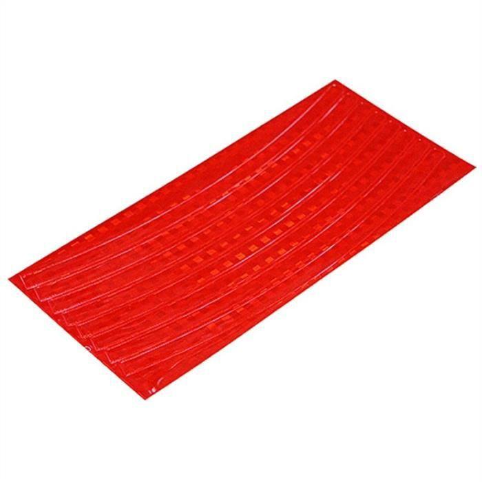 Stickers Autocollant Fluorescent Vélo VTT(Rouge)