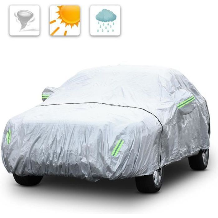 Bache Voiture Housse Voiture Compatible avec Dacia Duster Logan Mcv sandero Anti-gr/êle Imperm/éable Toutes Saisons Protection Voiture Color : Silver, Size : Duster
