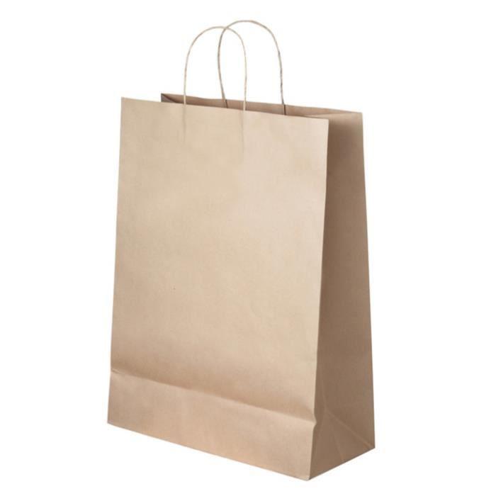 18 cm x 22 cm x 8 cm petite 50 x orange cadeau sacs en papier avec poignée torsadée