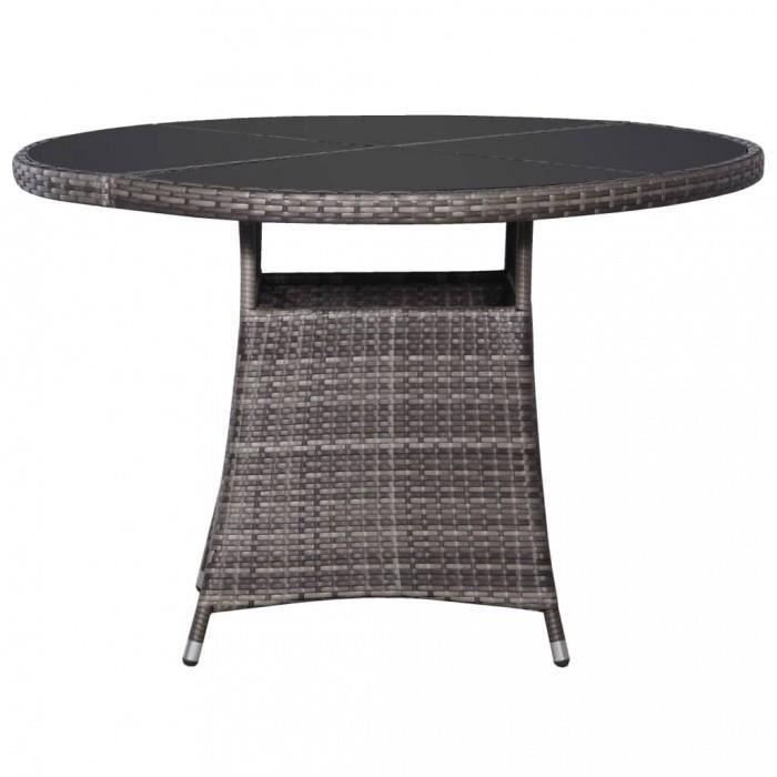 Magnifique Table de jardin Gris 110 x 74 cm Resine tressee ...