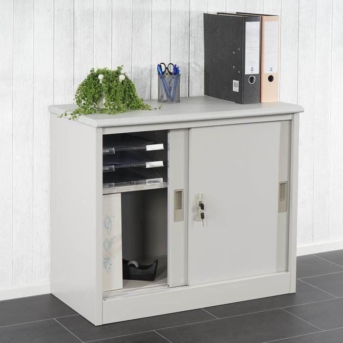Armoire bureau rangement classeur coulissant - Achat / Vente armoire de bureau Armoire bureau ...