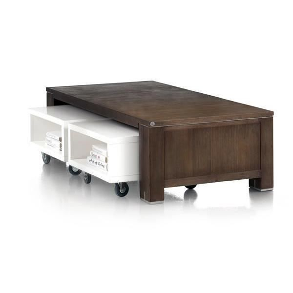 Table basse trolleys 140 x 70 cm acacia massif cataluna h h achat v - Meuble en acacia massif ...