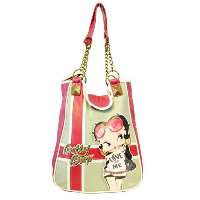 sac main betty boop avec sangle mi cha ne dor e dor achat vente besace sac reporter sac. Black Bedroom Furniture Sets. Home Design Ideas